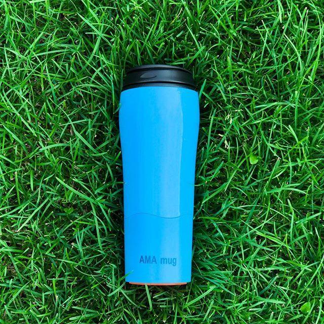 Не падающая термокружка Ama Mug Blue (470 мл)