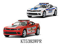Машина металл KINSMART KT5383WPR 96шт4 Chevrolet Camaro Police Fire Fighter,в кор 168,57см