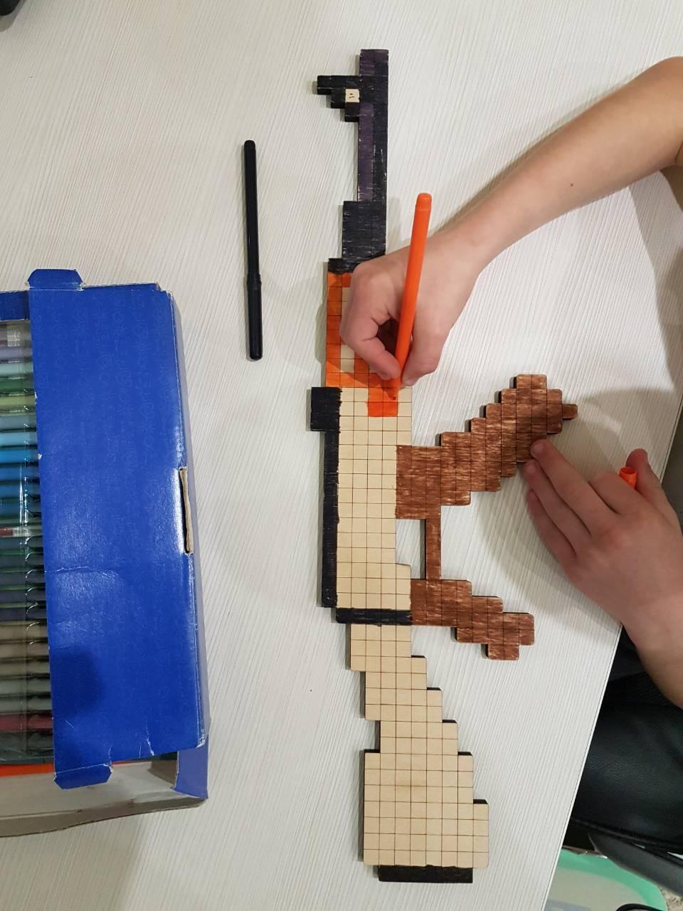 Автомат - розмальовка Minecraft (автомат - раскраска ...