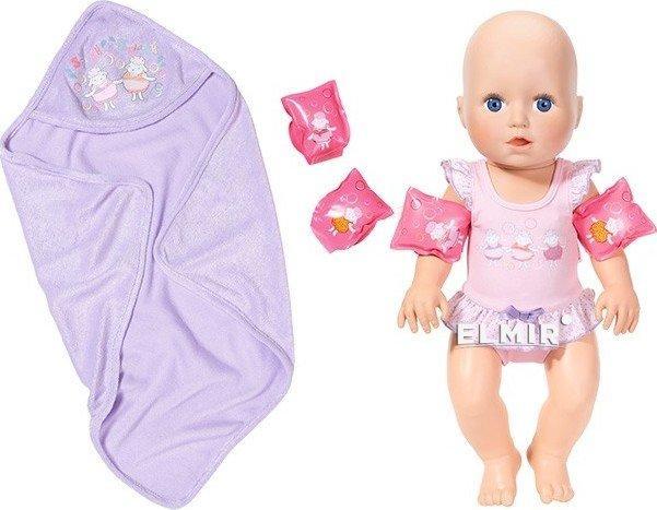 Интерактивная кукла BABY BORN ANNABELL Научи меня плавать Оригинал Бэби борн 700051