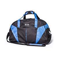 5c732bbb6c80 Вместительная спортивная сумка с карманом для обуви 42L CrossPorter черный  с синим от MAD | born