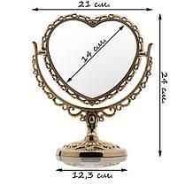 Зеркало для макияжа №810, настольное, фото 3