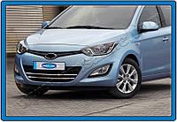 Hyundai I20 2011-2020 Полоски на решетку (нерж.)