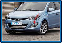 Hyundai I20 2011-2020 Хром накладки на противотуманки (нерж.)