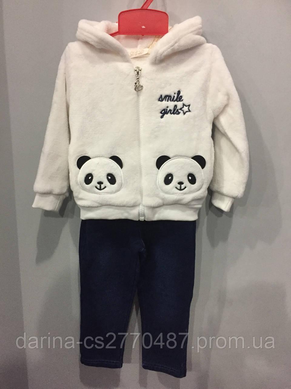 Костюм для девочки с пандами 1,2,3 г