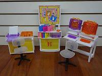 Мебель Gloria 21022 36шт3 для компьютерного класса,стулья,доска,принтеры,трафареты,в кор.3117