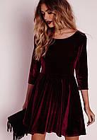 Велюровое платье в стиле бэби-долл
