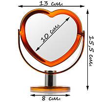 Зеркало косметическое №2103, настольное, фото 3