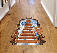 Интерьерная наклейка - Деревянный мост 3D (90х60см)