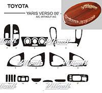 Toyota Yaris Verso АКЦИЯ! Накладки на панель под дерево