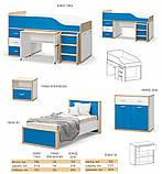 Кровать односпальная 900 Лео  (Мебель-Сервис)  1075х2104х924мм , фото 5