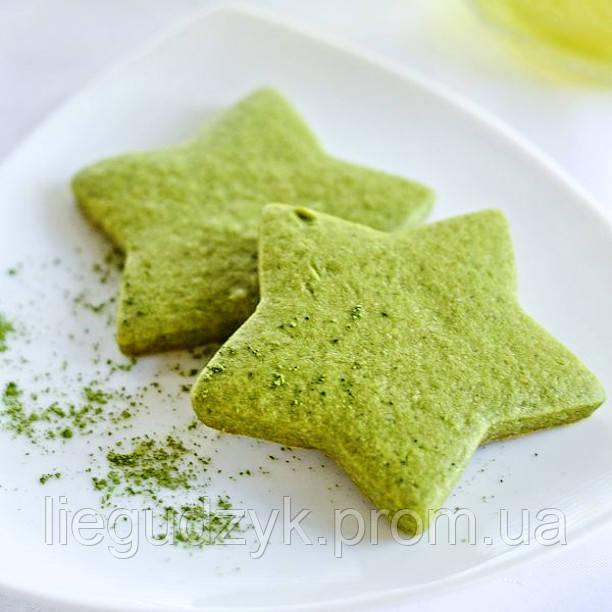 Печиво пісочне з чаєм Матча для брендування та декорування  [зіронька]