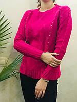 Жіночий в'язаний светр.( Довжина - 66 см). S - L Розмір.
