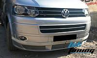 Накладка на передний бампер (под покраску) T5 2010+ ABT-model