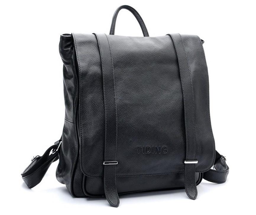 7827b667cbbf Рюкзак Кожаный TIDING BAG T3057 Черный — в Категории