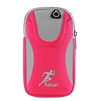 "Сумка на руку для смартфонов 4-6.9"" дюймов Tuban Sport Pink, фото 1"