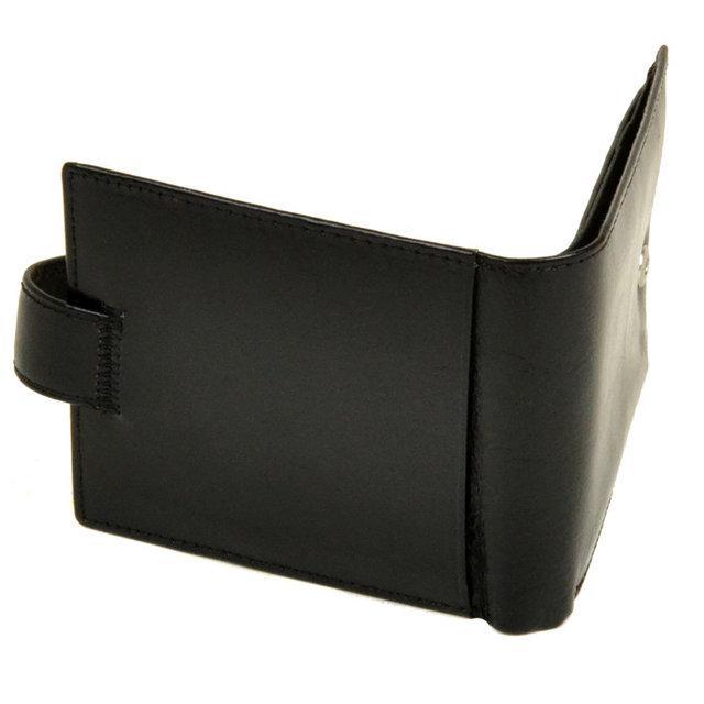 Чоловічий гаманець Bretton з натуральної шкіри. Шкіряне портмоне. Чорний і коричневий колір. Чорний Коричневий