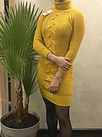 Женское вязаное платье - миди. S- L Размер., фото 1