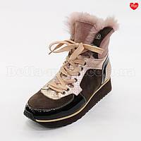 Женские кроссовки с розовым мехом, фото 1