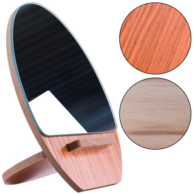 Зеркало для макияжа Ri Zhuang R-57, деревянное