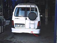 Накладка на задний бампер (под покраску) Peugeot Partner 1996-2008