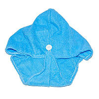 Тюрбан-полотенце для сушки волос Shower cap - голубой