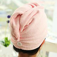 Тюрбан-полотенце для сушки волос Shower cap - розовый