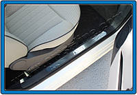 Хром накладки для тюнинга порогов Fiat 500 (Omsa, 2 шт)