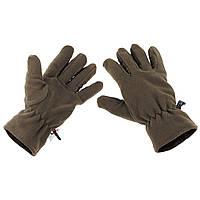 Зимние флисовые перчатки Thinsulate MFH, олива новые