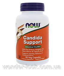 Now Foods, Candida Support, 90 капсул у рослинній оболонці