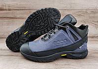 Мужские синие зимние ботинки Ecco Biom. Натуральная кожа и мех.