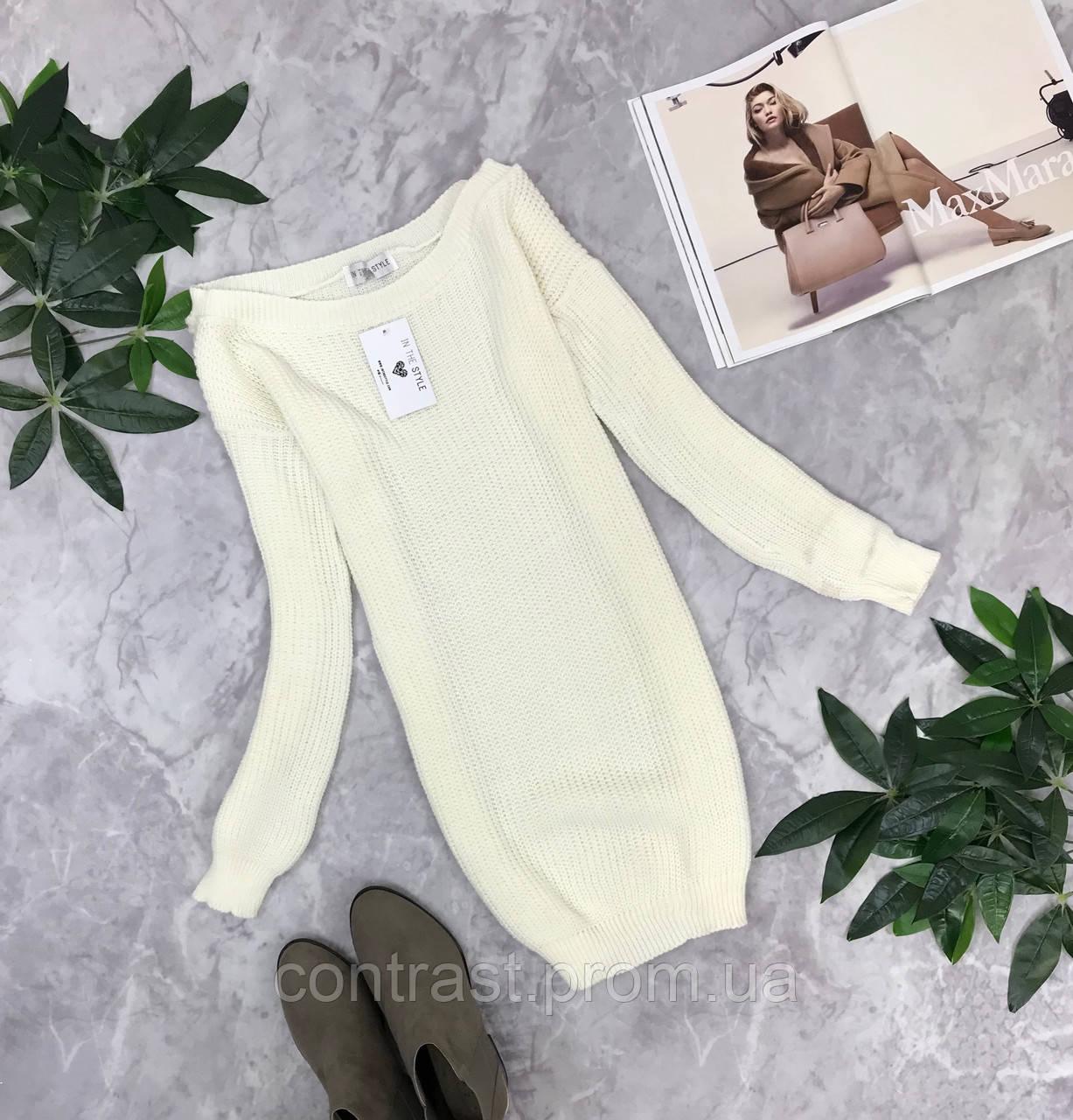 Белоснежный свитер-платье S/M  SH1843090