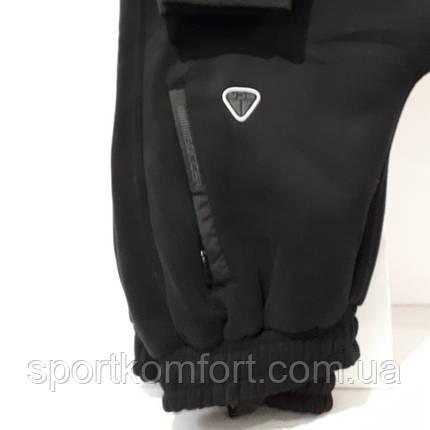 Мужские тёплые спортивные брюки турецкой фабрики Соккер на манжете., фото 2