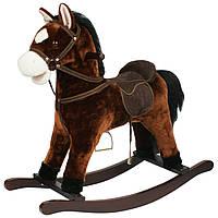 Лошадка качалка, конь качалка, лошадь качалка коник гойдалка с музыкой, фото 1