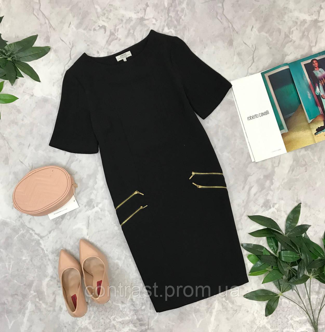 Стильное платье декорированное молниями  DR1849013