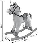 Лошадка качалка, конь качалка, лошадь качалка коник гойдалка с музыкой, фото 4