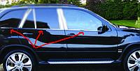 BMW X-5 E53 Нижние молдинги стекол (нерж.) 6 шт.
