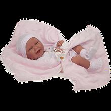 Пупс младенец 42 см Carlo в одеяльце, с пустышкой Antonio Juan 5020