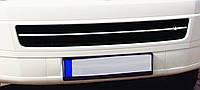 Накладка на решетку бампера Transporter T5 Caravelle (Carmos)
