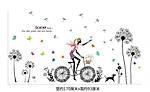 Інтер'єрна наклейка - Дівчина і кульбаби (170х93см), фото 4
