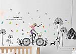 Інтер'єрна наклейка - Дівчина і кульбаби (170х93см), фото 5