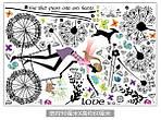Інтер'єрна наклейка - Дівчина і кульбаби (170х93см), фото 6