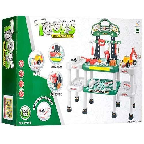 Детский игровой верстак 2212-12A с инструментами (121 предмет)