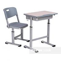 Комплект растущей мебели Парта 60х40 см и стул для детей 3 - 10 лет ТМ FunDesk Серый Scuola Grey