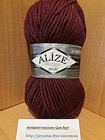Зимняя пряжа (25% шерсть, 75% акрил; 100г/100м) Alize Superlana MAXI 307(гнилая вишня)