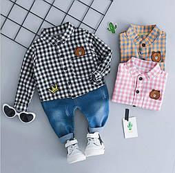 Детский костюм для мальчика (рубашка+джинсы)