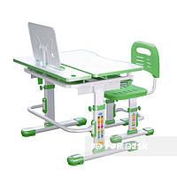 Комплект растущей мебели - Парта 80х62 см и стул-трансформеры ученические 7 - 13 лет ТМ FunDesk Lavoro Green