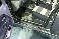 RENAULT CLIO III-SYMBOL Накладки на дверные пороги (нерж.) 4 ш