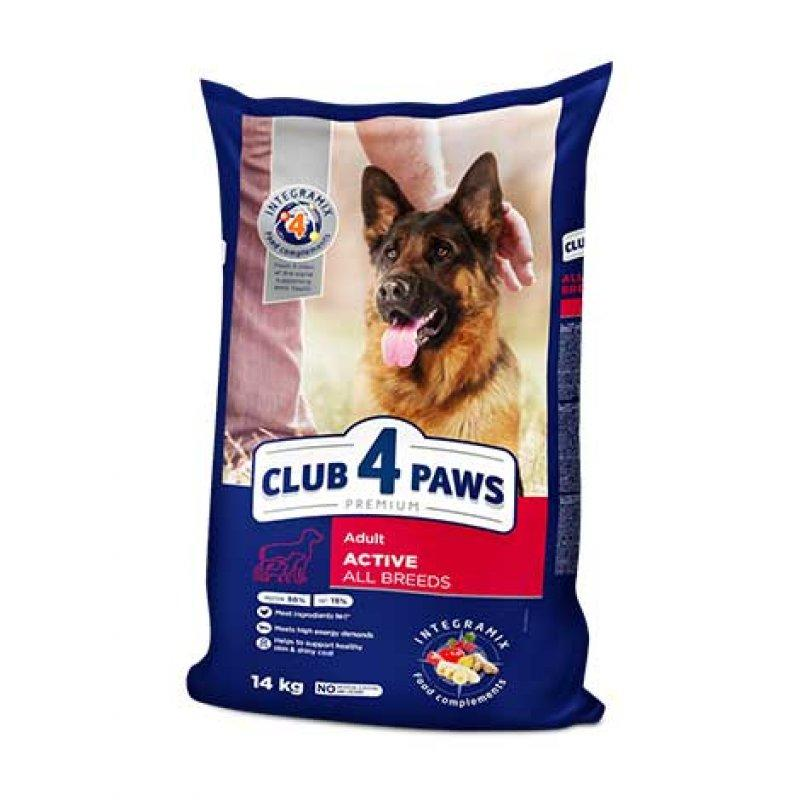 Сухой корм для активных собак Клуб 4 лапы 14 кг
