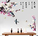 Интерьерная наклейка - Цветущая ветка дерева (113х90см), фото 3